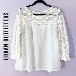 UO • Pins & Needles | Lace Smock Blouse